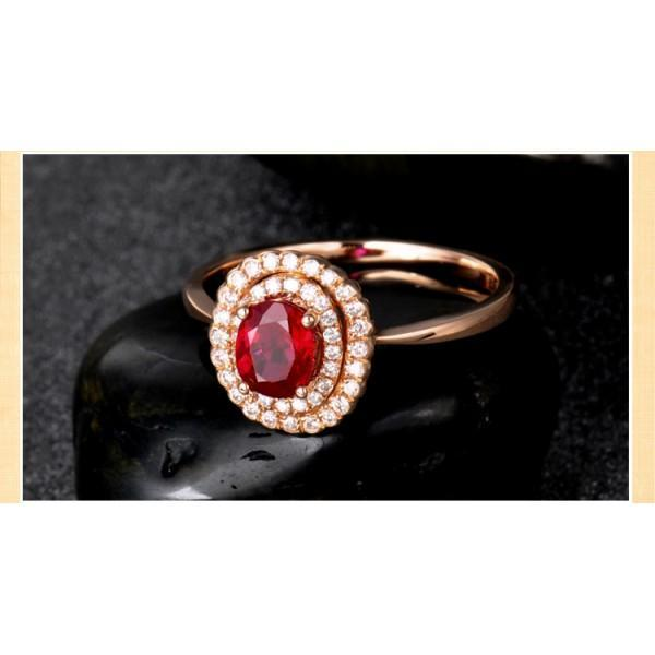 Double Halo 1.50 Carat Ruby and Diamond Engagement Ring