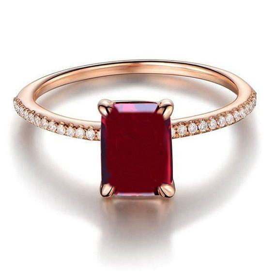 Limited Time Sale: 1.25 Carat Red Ruby and Diamond Engagement Ring