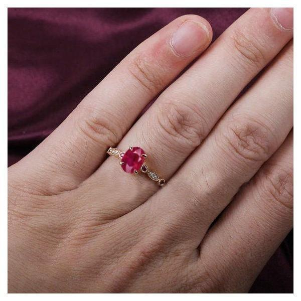 Limited Time Sale: Vintage Antique Design 1.25 Carat Red Ruby and Diamond Engagement Ring