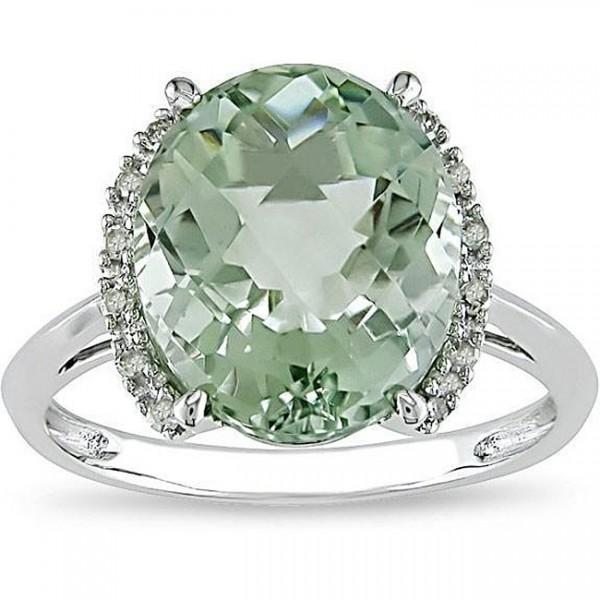 Magnetic Green Topaz Engagement ring