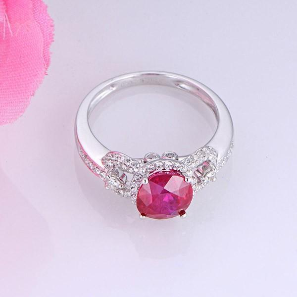 Marvelous Ruby and Diamond Engagement Ring
