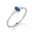 0.35 ct Marquise Cut Sapphire and  White Diamond Promise Ring in White Gold