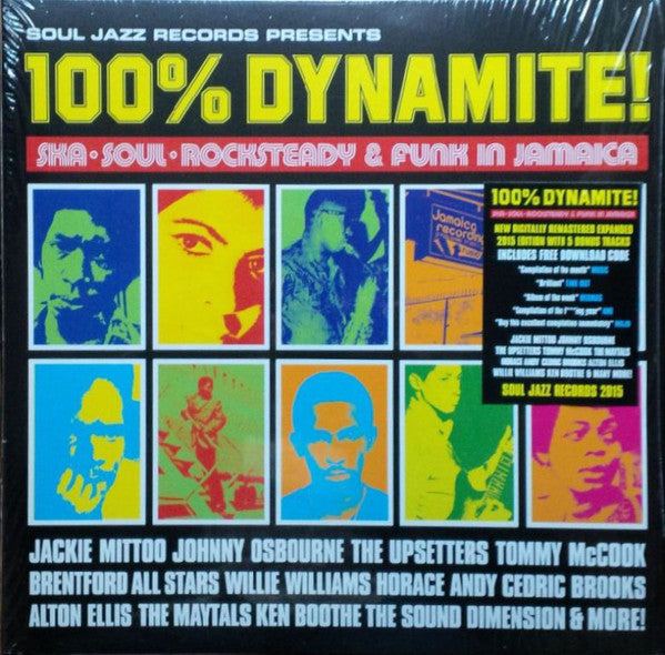 Soul Jazz Records Presents ‎/ 100% Dynamite (Ska, Soul, Rocksteady & Funk in Jamaica) - 2LP Vinyl