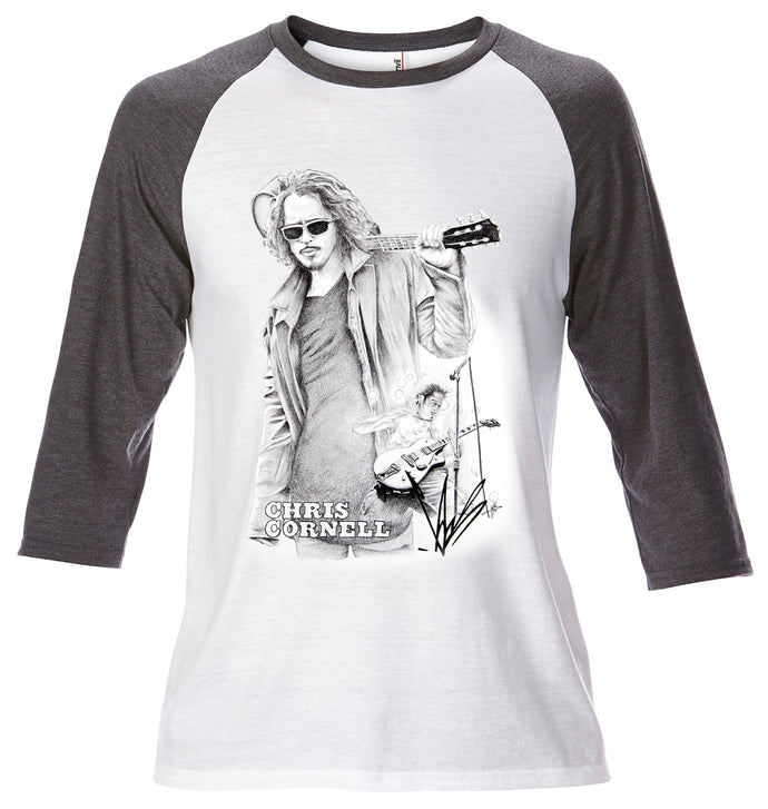 Baseball Tee - Chris Cornell