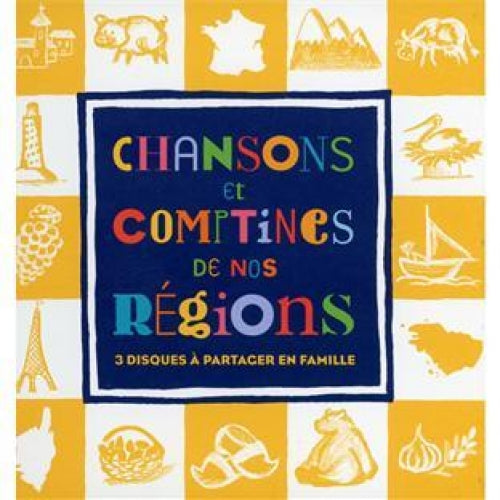 Shop Music Add to Wishlist Chansons Et Comptines De Nos Régions - 3CD/Livre