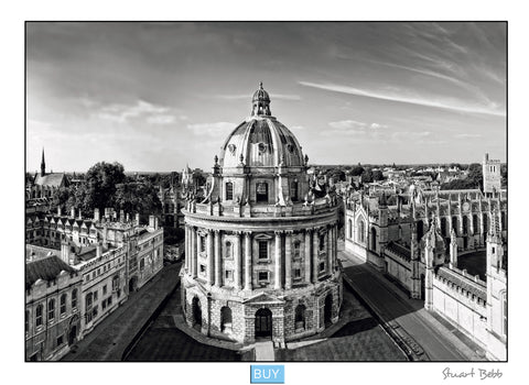 Radcliffe square Oxford B&W art print