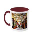 Queens college oxford library mug burgundy