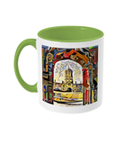 Oxford university green mug Christ Church college Oxford