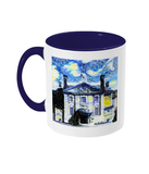 Lady Margaret Hall LMH College Oxford Alumni mug with navy blue  handle