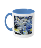 Christ Church College Oxford Alumni Mug with light blue handle