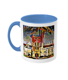 Mansfield college Oxford Mug light blue