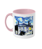 Lady Margaret Hall LMH College Oxford Alumni mug with pink handle
