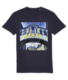 Hertford College Bridge of Sighs Oxford unisex navy organic cotton t-shirt with art design