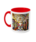 Queens college oxford library mug red