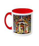 Queens college Oxford mug red