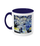Christ Church College Oxford Alumni Mug with navy blue handle