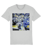 Christ Church College Oxford University unisex grey organic cotton t-shirt with art design