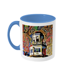 Harris Manchester College Oxford mug light blue