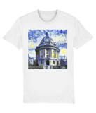 Radcliffe Camera Oxford University unisex white organic cotton t-shirt with art design