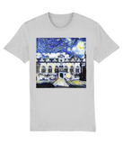Oriel College Oxford University unisex grey organic cotton t-shirt with art design