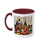 Oxford Spires mug with burgundy handle