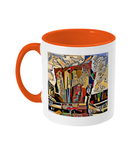 Physics Oxford College Mug with orange handle
