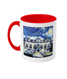 Oriel College Oxford Alumni mug with red handle