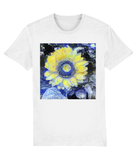 Van Gogh Sunflower unisex white organic cotton  t-shirt