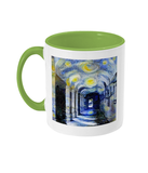 Corpus Christi College Oxford Alumni mug with light green handle