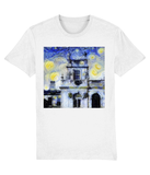Trinity College Oxford University Mens & Womens Unisex Van-gogh Inspired organic white T-shirt.