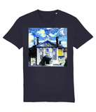 Lady Margaret Hall Oxford University Unisex navy organic cotton t-shirt with art design