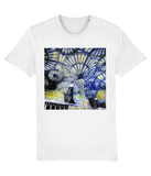 Christ Church College Oxford University unisex white organic cotton t-shirt with art design