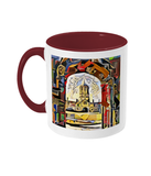 Oxford university burgundy mug Christ Church college Oxford