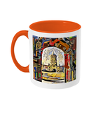 Oxford university orange mug Christ Church college Oxford