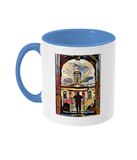 Queens College Oxford Mug with light blue handle