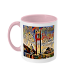 St. Cats Oxford college pink mug