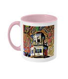 Harris Manchester College Oxford mug Pink