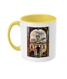 Queens College Oxford Mug with yellow handle