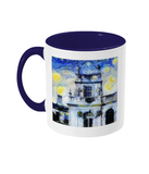 Trinity College Oxford Alumni Mug with navy blue handle