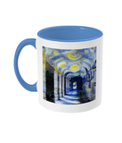 Corpus Christi College Oxford Alumni mug with light blue handle