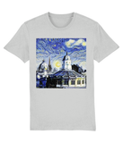 Oxford University Spires Unisex Organic cotton grey t-shirt with art design
