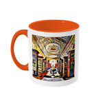 Queens college oxford library mug orange