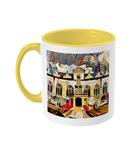 Oriel college Oxford mug yellow