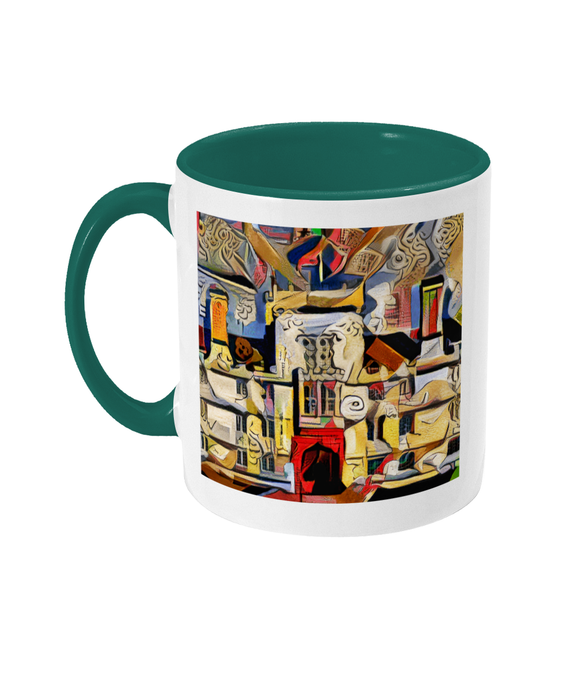 Wadham College Oxford mug green