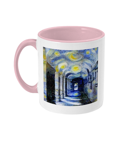 Corpus Christi College Oxford Alumni mug with yellow handle