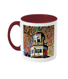 Harris Manchester College Oxford mug burgundy