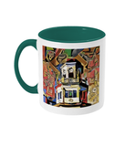 Harris Manchester College Oxford mug green