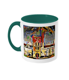 Mansfield college oxford mug green