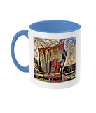 Physics Oxford College Mug with light blue handle