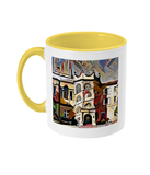 Hertford College Oxford mug with yellow handle